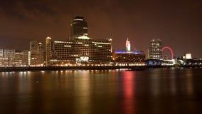 伦敦晚上河泰晤士视图 库存图片