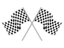 участвовать в гонке флага Стоковая Фотография
