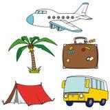 艺术夹子节假日被设置的旅行 免版税库存图片