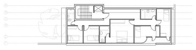 其次楼层房子现代计划 免版税图库摄影