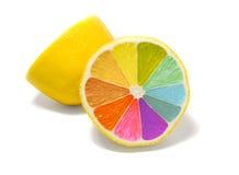 色的柠檬 库存照片