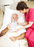 健康家庭呼吸疗法 图库摄影