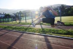 Νέο τρέξιμο αθλητών Στοκ φωτογραφίες με δικαίωμα ελεύθερης χρήσης