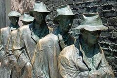 富兰克林饥饿纪念罗斯福雕塑 免版税库存照片