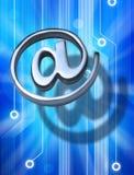 电子邮件符号技术 免版税库存照片