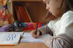 家庭作业 免版税图库摄影