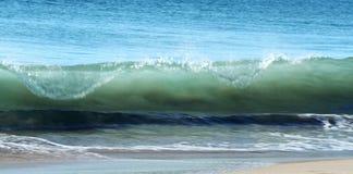 海滩沙子海浪通知 免版税库存照片