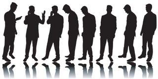 силуэты бизнесменов Стоковые Фотографии RF