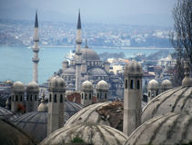 城市老伊斯坦布尔 库存照片