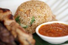 зажаренный рис Индонесии Стоковая Фотография RF