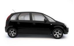 黑色汽车多目的侧视图 免版税库存照片