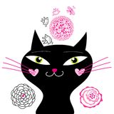 猫乐趣爱 免版税库存照片