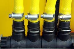 трубы штуцеров пластичные Стоковая Фотография