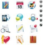 вектор иконы установленный средствами социальный Стоковое Изображение RF