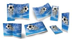 球手册足球 库存照片