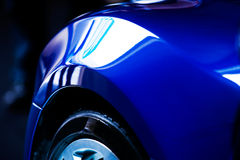 голубая деталь автомобиля Стоковая Фотография