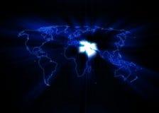 Παγκόσμιος χάρτης - Μέση Ανατολή Στοκ Εικόνες