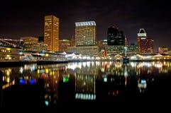 内在巴尔的摩的港口 免版税库存图片