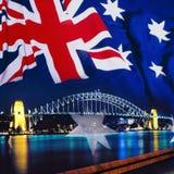 澳洲桥梁港口悉尼 免版税库存照片