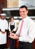 经理餐馆 免版税库存照片