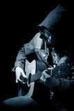 吉他音乐家作用 库存照片