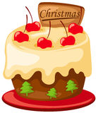 Χριστούγεννα κέικ Στοκ Εικόνες