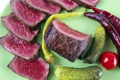 φέτες κρέατος χοντρών κομμ Στοκ εικόνα με δικαίωμα ελεύθερης χρήσης