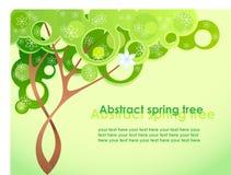 抽象春天结构树 免版税库存照片