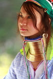 长的脖子泰国部落 免版税库存照片