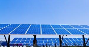 可选择能源太阳工厂的次幂 免版税库存图片