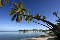 小海湾斐济步枪南的太平洋 库存照片