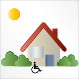 残疾住房徽标符号 库存图片