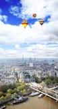 空中城市伦敦视图 免版税库存照片