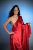 сатинировка стародедовской богини красная сексуальная Стоковые Изображения