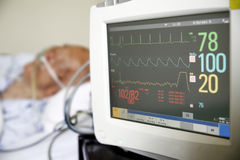 心脏监护器 图库摄影