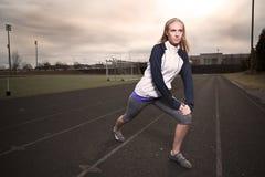 женщина тренировки Стоковое Фото