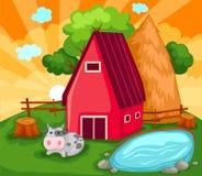 农厂房子 免版税库存照片