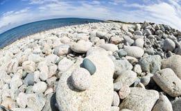 海滩石渣 图库摄影