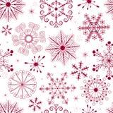 圣诞节模式红色无缝的白色 免版税库存照片
