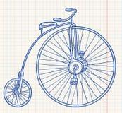 ποδήλατο αναδρομικό Στοκ Φωτογραφίες