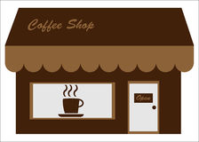 咖啡馆咖啡前面界面存储 库存图片