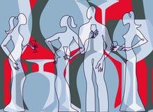 партия приглашения коктеила к Стоковое фото RF