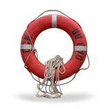 сейф кольца жизни предохранителя красный Стоковая Фотография
