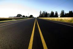 дорога прямо Стоковая Фотография