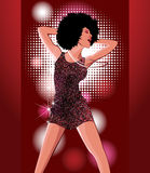 Танцы женщины Стоковые Изображения RF