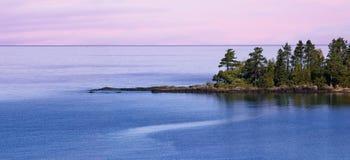 苏必利尔湖畔 库存照片