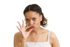 загерметизированные губы Стоковая Фотография RF