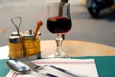 餐位餐具 图库摄影