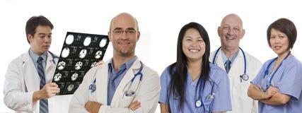 ιατρική ομάδα εμβλημάτων Στοκ εικόνα με δικαίωμα ελεύθερης χρήσης