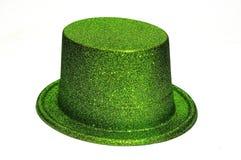 绿色帽子当事人 图库摄影